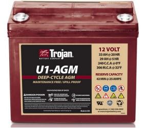 AGM аккумулятор Trojan: 12В-29А/ч (С5)