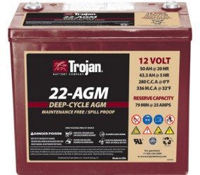 AGM аккумулятор Trojan: 12В-43.3А/ч (С5)