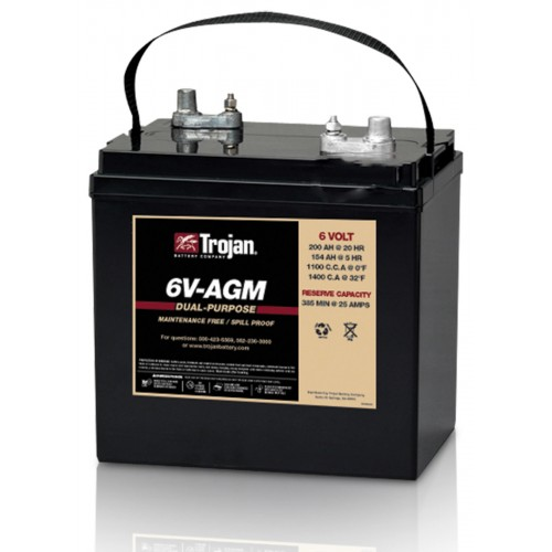 AGM аккумулятор Trojan: 6В-154А/ч (С5)